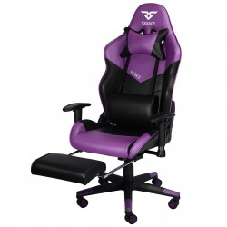 Bigger & Wider | VX RACE Gaming Chair with Footrest/ Swivel Leather Desk Chair-Purple