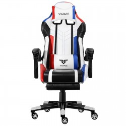 Brighter & Bolder | VX RACE Gaming Chair with Footrest/ Swivel Leather Desk Chair
