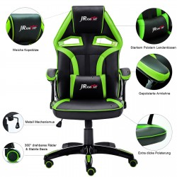 Ergonomic Home Office Gaming Chair with Adjustable Height Rocking Function[ZKLC-01]