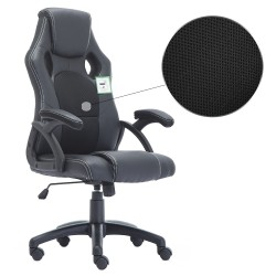 JL Comfurni Racing Gaming Chair/ Computer Chair/ Mesh Office Chair - Black  [A05BK]