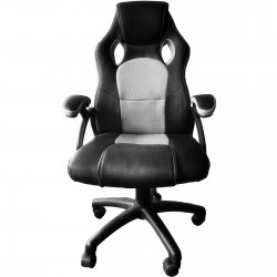 JL Comfurni Racing Gaming Chair/ Computer Chair/Mesh Office Chair - Grey(A05GE)