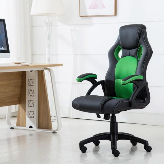 JL Comfurni Racing Gaming Chair/ Computer Chair/Mesh Office Chair - Green(A05GN)
