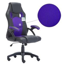 JL Comfurni Racing Gaming Chair/ Computer Chair/Mesh Office Chair - Purple(A05PP)