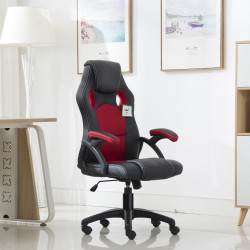 JL Comfurni Racing Gaming Chair/ Computer Chair/Mesh Office Chair - Red(A05RD)