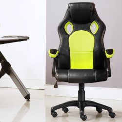[FLASH SALE] ]JL Comfurni Racing Gaming Chair/ Computer Chair/Mesh Office Chair - Flu-Green