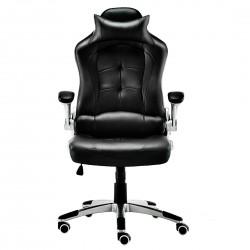JL Comfurni Racing Gaming Chair/ Computer Chair/ PU Leather Office Chair - Black  [K09BK]