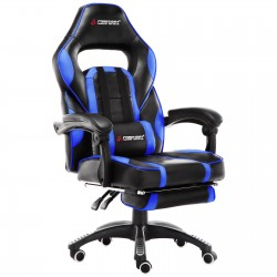 X Series Blue| Gaming Office Chair With Footrest/Computer Chairs/ Swivel Leather Desk Chair