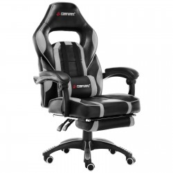 X Series Grey | Gaming Office Chair With Footrest/Computer Chairs/ Swivel Leather Desk Chair