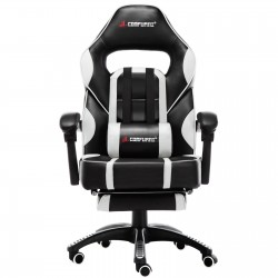 X Series White | Gaming Office Chair With Footrest/Computer Chairs/ Swivel Leather Desk Chair