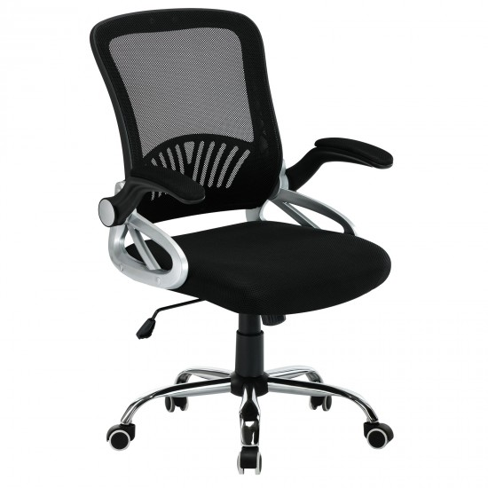 Office Mesh Chair/ Adjustable Padded Armrests Chair [NC-701BK]