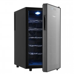 [Limited £10 off code: WINE10] Vinekraft 18 Bottle Wine Drinks Beverage Cooler & Fridge Glass Cover with LED