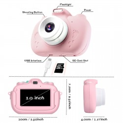 JL Comfurni|Kids Camera|Touch Screen Selfie Camera for Kids 28.0MP Digital Dual Camera with 3.0 Inch IPS Screen and Toddler[A5]