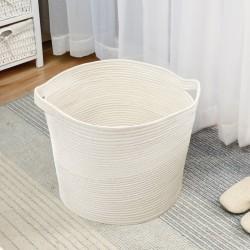 Laundry Basket Baby Storage Basket Toy Storage Organiser for Nursery, Kids Room, Washable Cotton Rope Woven