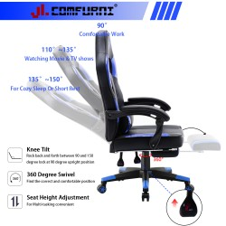 HALO Series Bright Blue   Gaming Office Gaming Chair/Footrest Chair/ Office Computer Desk Chair