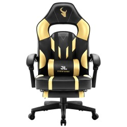 JL Comfurni | Gaming Office Gaming Chair/Footrest Chair/ Office Computer Desk Chair [BL2GD]