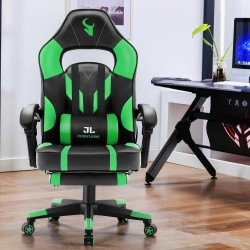 HALO Series Green   Gaming Office Gaming Chair/Footrest Chair/ Office Computer Desk Chair
