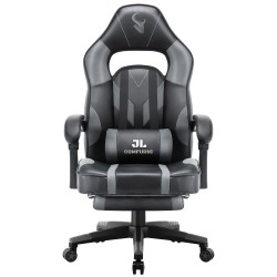 HALO Series Grey | Gaming Office Gaming Chair/Footrest Chair/ Office Computer Desk Chair