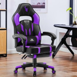 JL Comfurni | Gaming Office Gaming Chair/Footrest Chair/ Office Computer Desk Chair [BL2PP]