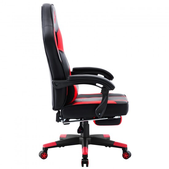 HALO Series Red   Gaming Office Gaming Chair/Footrest Chair/ Office Computer Desk Chair
