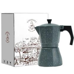 Espresso Maker Moka Pot Stove Top Coffee Pot 6 cups/300ml -Grey