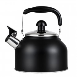 Vinekraft Traditional Kettle with Whistle Stainless Steel Teapot Induction Water Kettle 2.7 Litre -Black