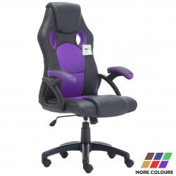 JL Comfurni |Racing Gaming Chair|Home Office Chair Rocking Swivel PU Computer Desk Chair [A05]