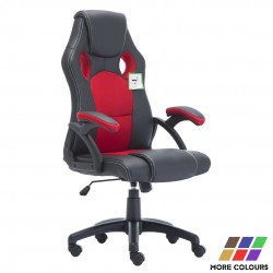 Racing Gaming Chair|Home Office Chair Rocking Swivel PU Computer Desk Chair