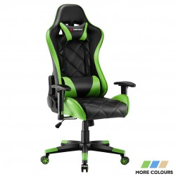 JL Comfurni | Athena Argyle Series | Gaming Chair/Computer Chairs/ Swivel Leather Desk Chair [GRID]