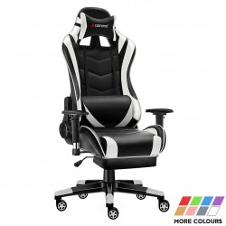 JL Comfurni | Classic Series | Gaming Chair with Footrest/Computer  Chair [GC-S+JDBK]
