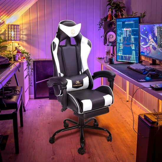 With Massage Lumbar Pillow | Gaming Office Chair