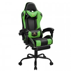 Constellation Series Green | Gaming Chair with Footrest/Computer Chairs/ Swivel Leather Desk Chair