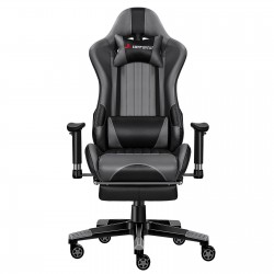 Classic Grey 2.0 | Gaming Chair with Footrest/Computer Chair