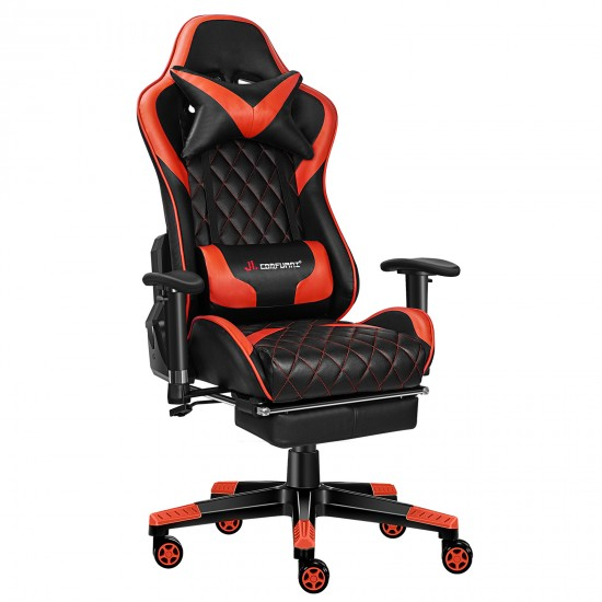 Athena Argyle Red Line | Gaming Chair With Footrest/Computer Desk Chairs