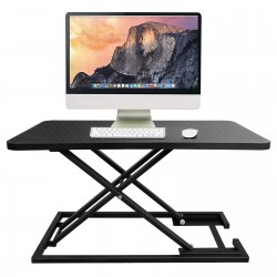 JL Comfurni|Workstations Riser|Home Office Computer Desk for Monitor Laptop Adjustable Height with Gas Spring Riser