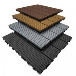 WPC Outdoor Decking Floor Tiles/Composite Interlocking Easy DIY for Garden Patio