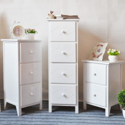 2/3/4 Drawer Side Bedside Table Cabinet Storage Unit / Night Stand Home Living Room Bedroom