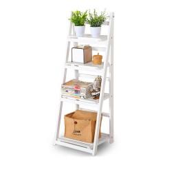 Plant Flower Pot Shelf /Stand Bookcase /Leaning Garden Storage Rack /Display Ladder