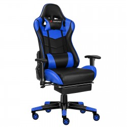 Classic Blue | Gaming Chair with Footrest/Computer Chair