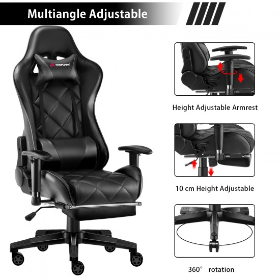 Athena Argyle L Series | Gaming Chair with Footrest