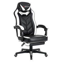 Spider Series | Gaming Chair with Footrest/ Swivel Leather Computer Desk Chair