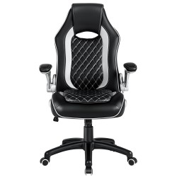 JL Comfurni | Home Office Chair/Faux Leather Chair/Computer Desk Chair [HF-L06]