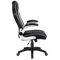 JL Comfurni   Home Office Chair/Faux Leather Chair/Computer Desk Chair [HF-L06]