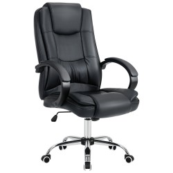 Home Office Chair/Faux Leather Chair/Computer Desk Chair - Black[HF-L07]