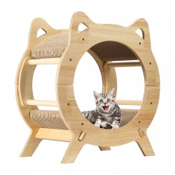 Wooden Cat House Cat Scratching Post for Furniture Protection