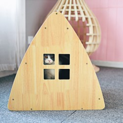 Wooden Cat Bed Cat House Scratching Post for Furniture Protection