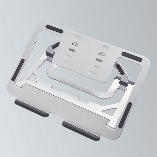 2-in-1 Laptop Stand, Aviation Aluminum Notebook Tablet Computer Bracket Stand(LSAF-SL)