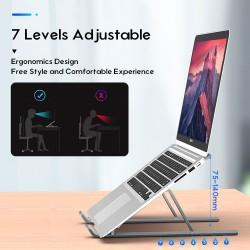 Laptop Stand, Aluminum Tablet Bracket Foldable and Adjustable Computer Notebook Stand