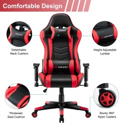 JL Comfurni | Narkissos Series | Gaming /Computer Chairs/ Swivel  Desk Chair [ND2-BKRD]