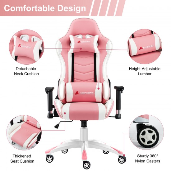 JL Comfurni  | Narkissos Series | Gaming /Computer Chairs/ Swivel Leather Desk Chair [ND2-PKW]