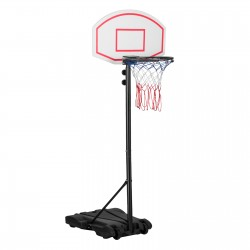 JL Comfurni Basketball Hoop and Stand for Kids, Adjustable 166-208cm Portable Basketball Hoop Net, Indoor Outdoor Play for Children